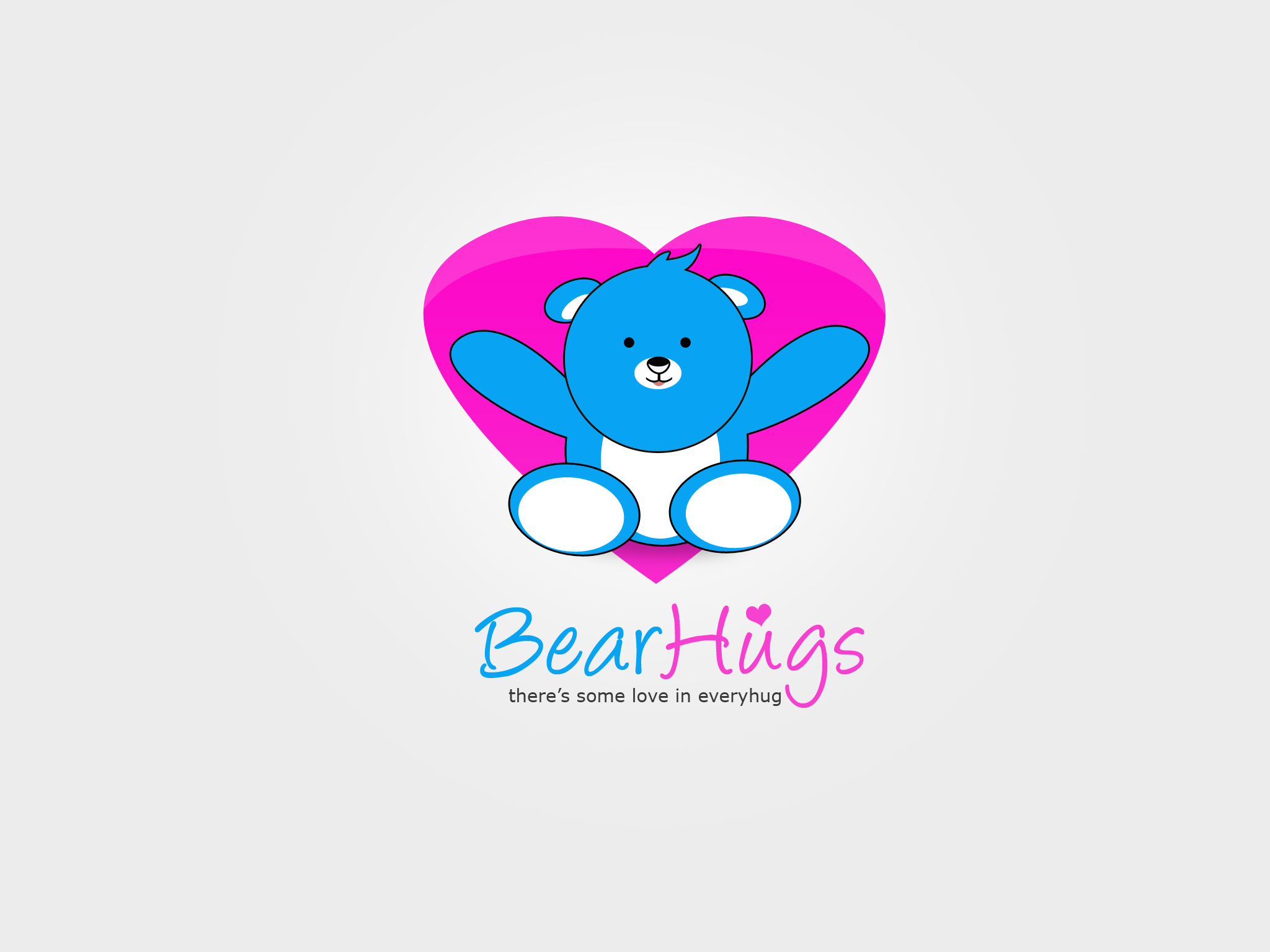 Logo Design by Jan Chua - Entry No. 55 in the Logo Design Contest Inspiring Logo Design for BearHugs.