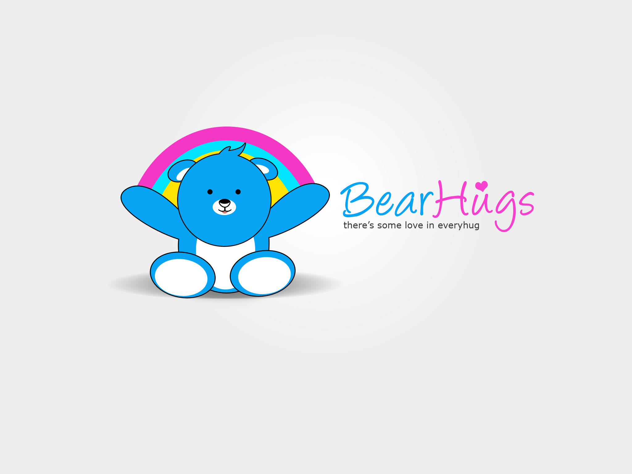 Logo Design by Jan Chua - Entry No. 56 in the Logo Design Contest Inspiring Logo Design for BearHugs.