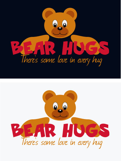 Logo Design by Boba Dizajn - Entry No. 58 in the Logo Design Contest Inspiring Logo Design for BearHugs.