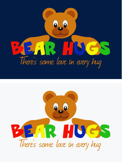Logo Design by Boba Dizajn - Entry No. 60 in the Logo Design Contest Inspiring Logo Design for BearHugs.