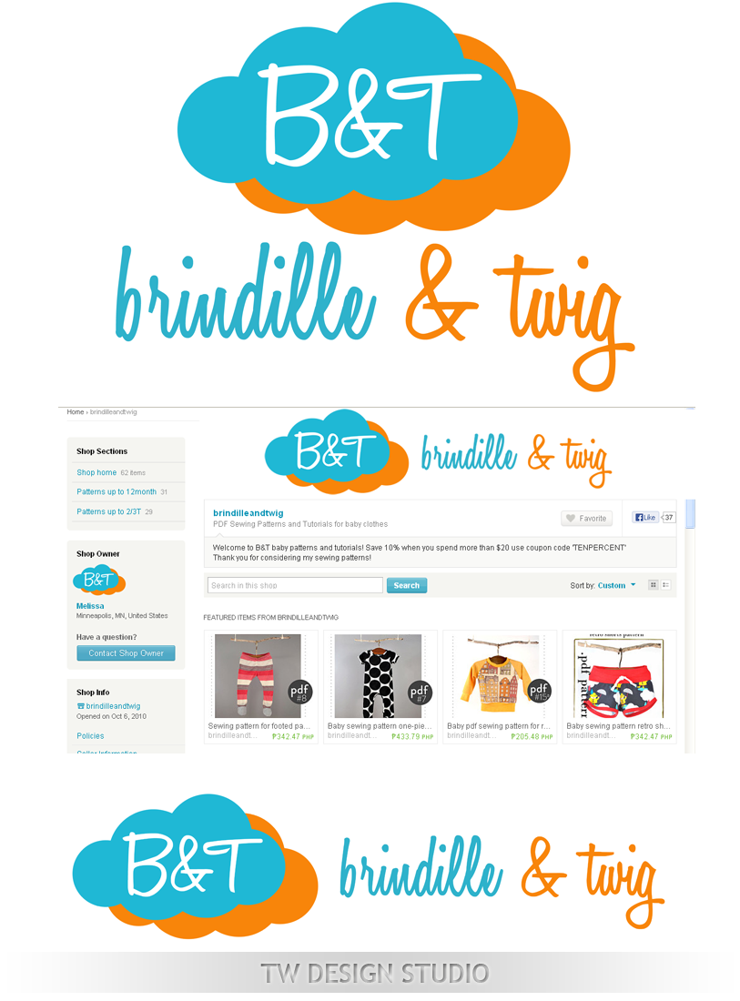 Logo Design by Private User - Entry No. 34 in the Logo Design Contest Logo Design for Brindille & Twig.