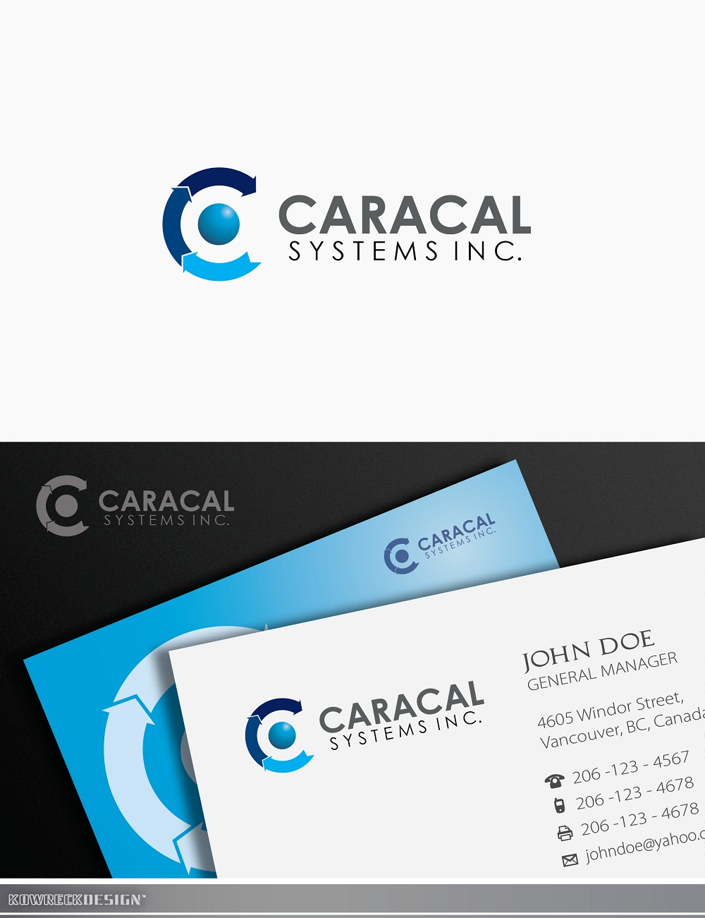 Logo Design by kowreck - Entry No. 81 in the Logo Design Contest Inspiring Logo Design for Caracal Systems Inc..