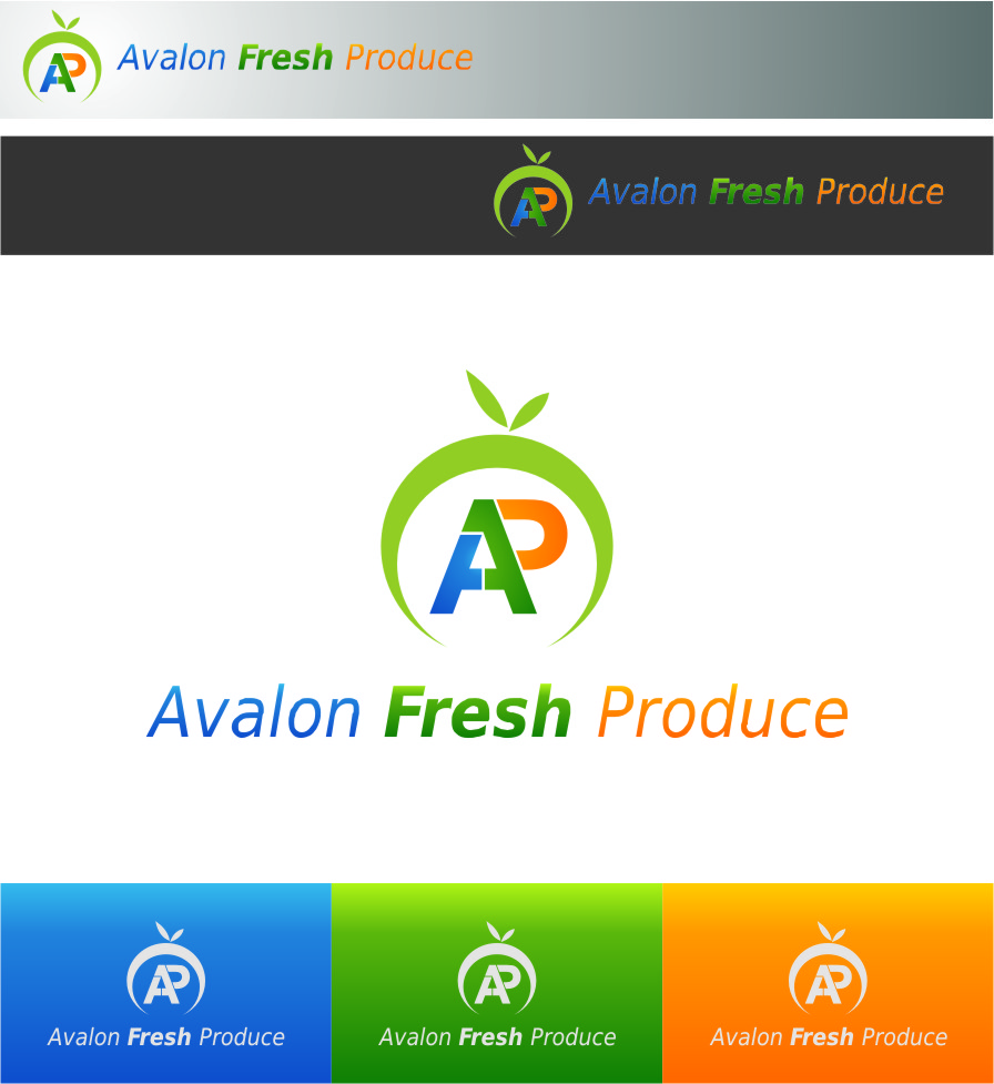 Logo Design by RasYa Muhammad Athaya - Entry No. 4 in the Logo Design Contest Unique Logo Design Wanted for Avalon Fresh Produce.