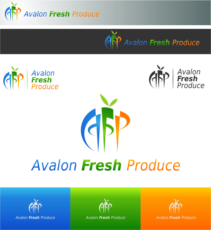 Logo Design by Ngepet_art - Entry No. 5 in the Logo Design Contest Unique Logo Design Wanted for Avalon Fresh Produce.