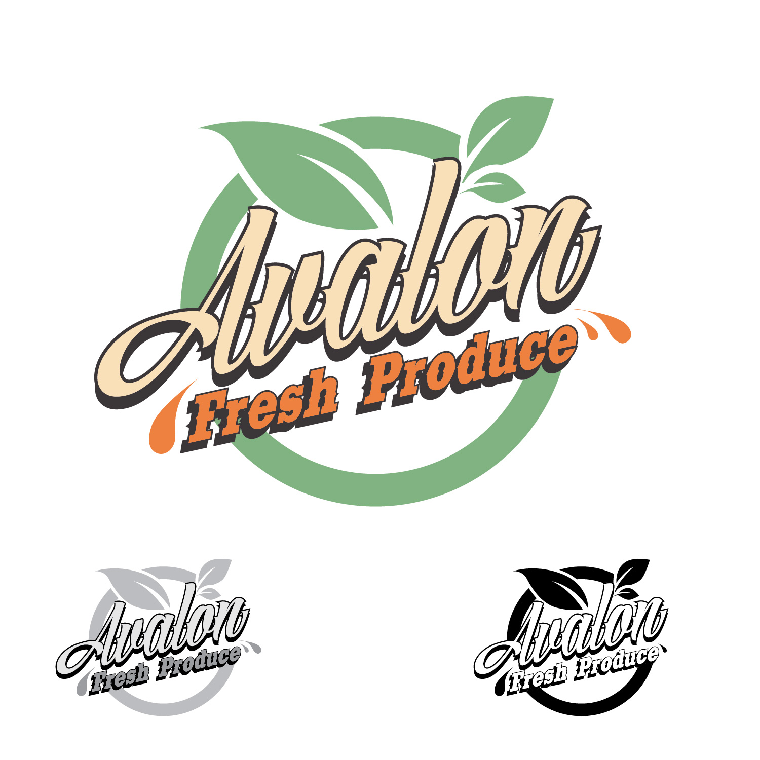 Logo Design by lagalag - Entry No. 9 in the Logo Design Contest Unique Logo Design Wanted for Avalon Fresh Produce.