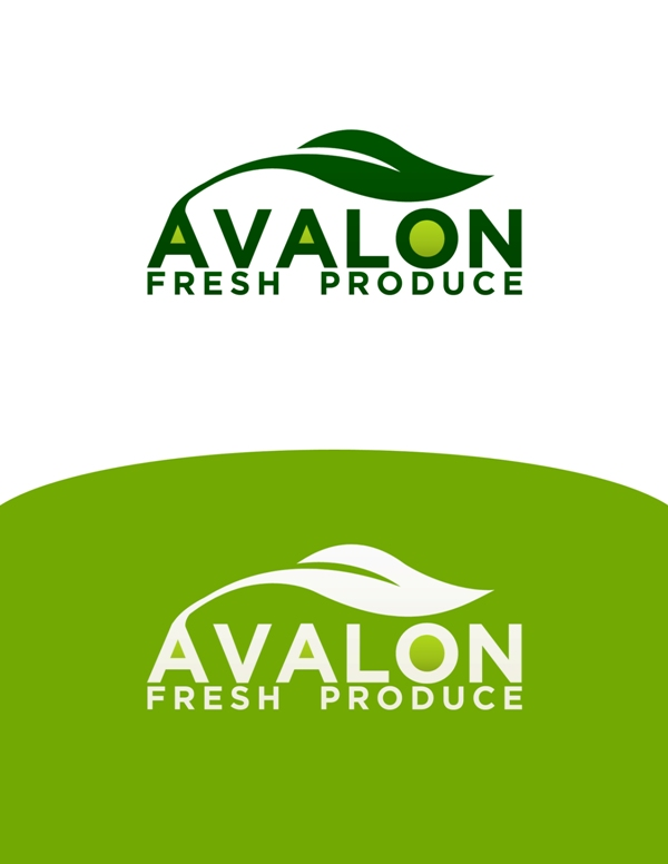 Logo Design by Juan_Kata - Entry No. 10 in the Logo Design Contest Unique Logo Design Wanted for Avalon Fresh Produce.