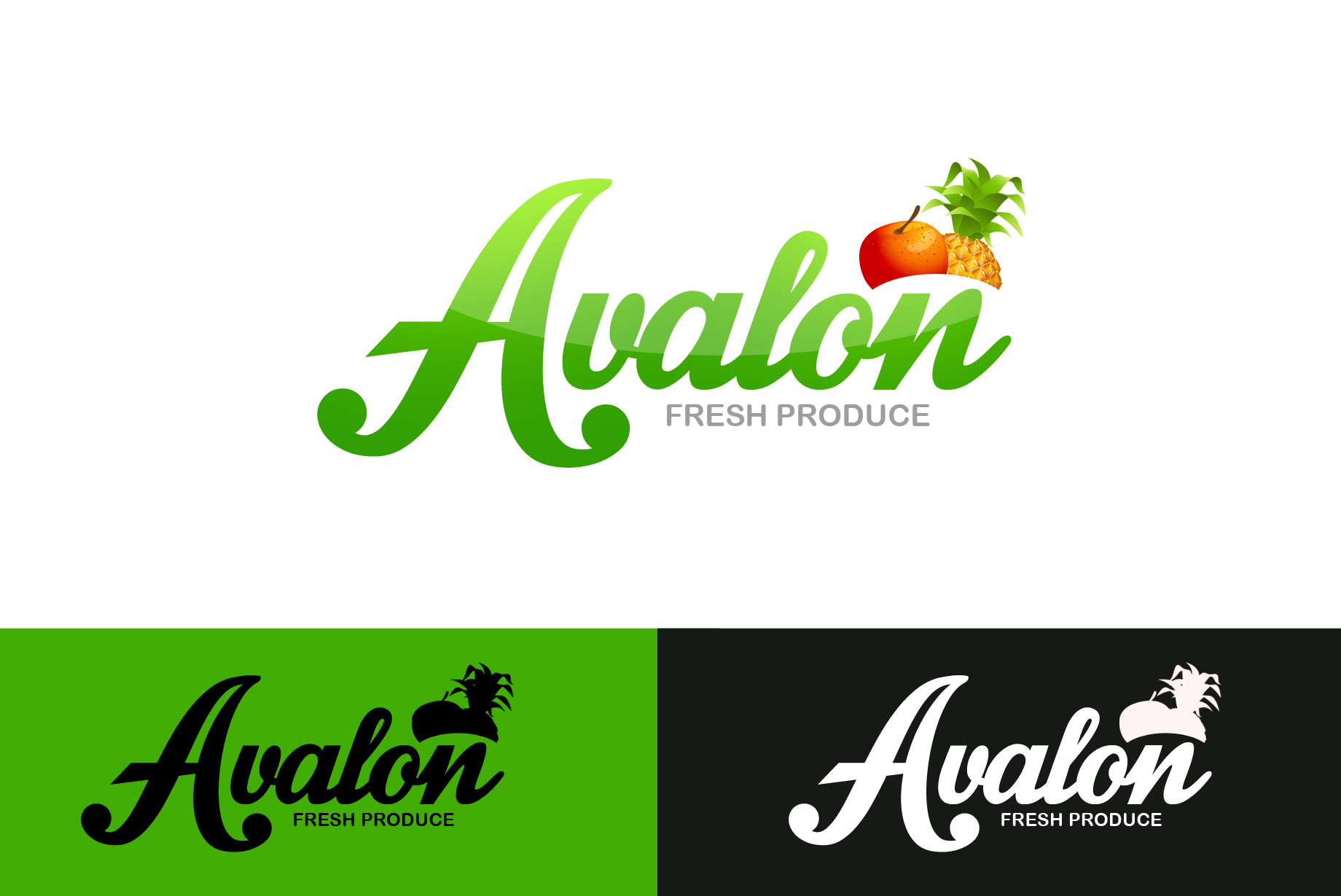 Logo Design by Jan Chua - Entry No. 11 in the Logo Design Contest Unique Logo Design Wanted for Avalon Fresh Produce.