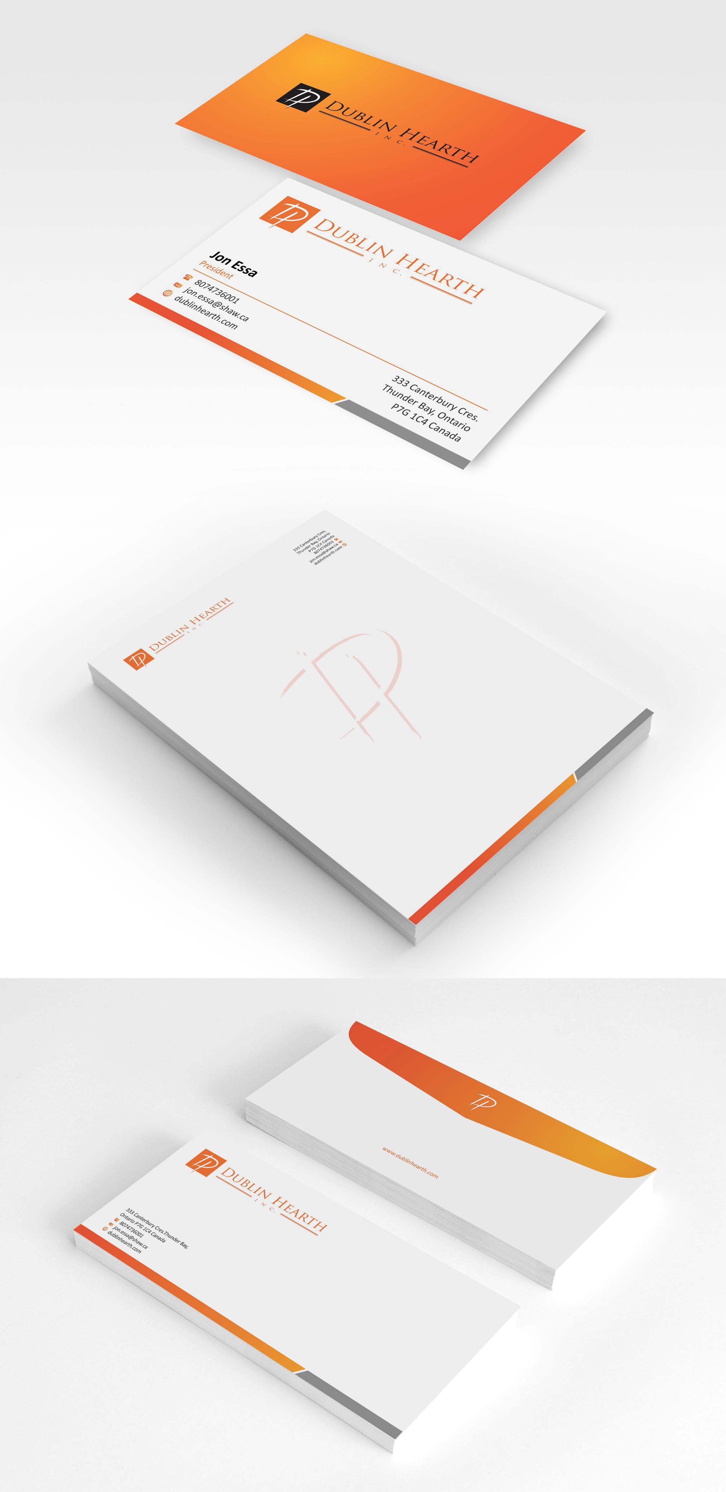 Business Card Design by Muhammad Aslam - Entry No. 6 in the Business Card Design Contest Business Card and Letterhead  Design Dublin Hearth Inc..