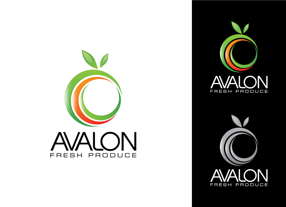 Logo Design by Ujjal Dhar - Entry No. 22 in the Logo Design Contest Unique Logo Design Wanted for Avalon Fresh Produce.