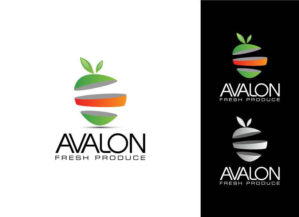 Logo Design by Ujjal Dhar - Entry No. 23 in the Logo Design Contest Unique Logo Design Wanted for Avalon Fresh Produce.