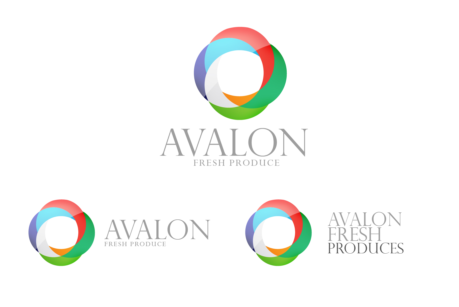 Logo Design by Jan Chua - Entry No. 26 in the Logo Design Contest Unique Logo Design Wanted for Avalon Fresh Produce.
