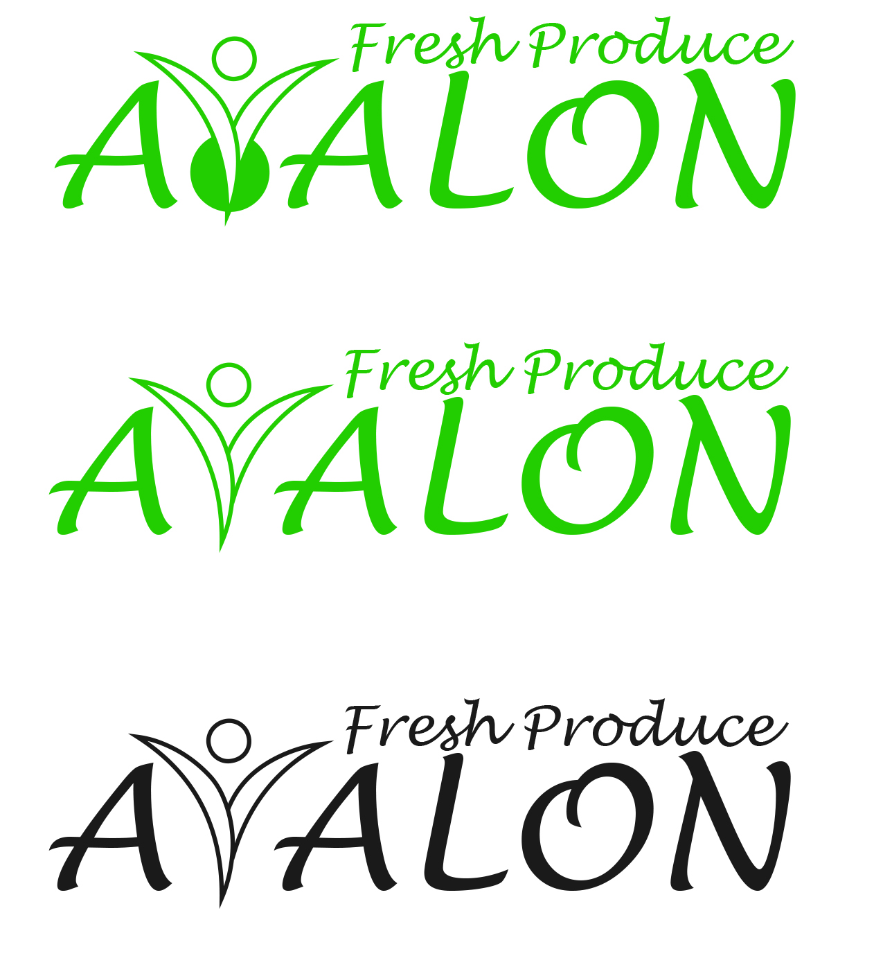 Logo Design by fako - Entry No. 28 in the Logo Design Contest Unique Logo Design Wanted for Avalon Fresh Produce.
