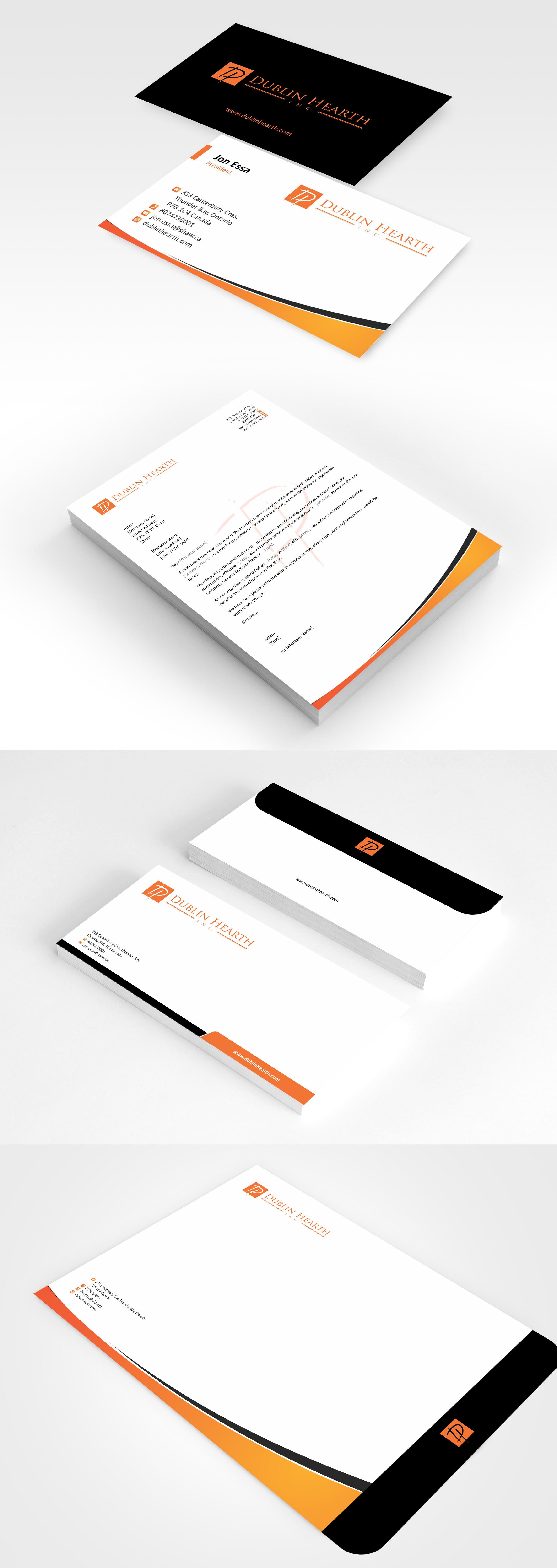 Business Card Design by Muhammad Aslam - Entry No. 19 in the Business Card Design Contest Business Card and Letterhead  Design Dublin Hearth Inc..