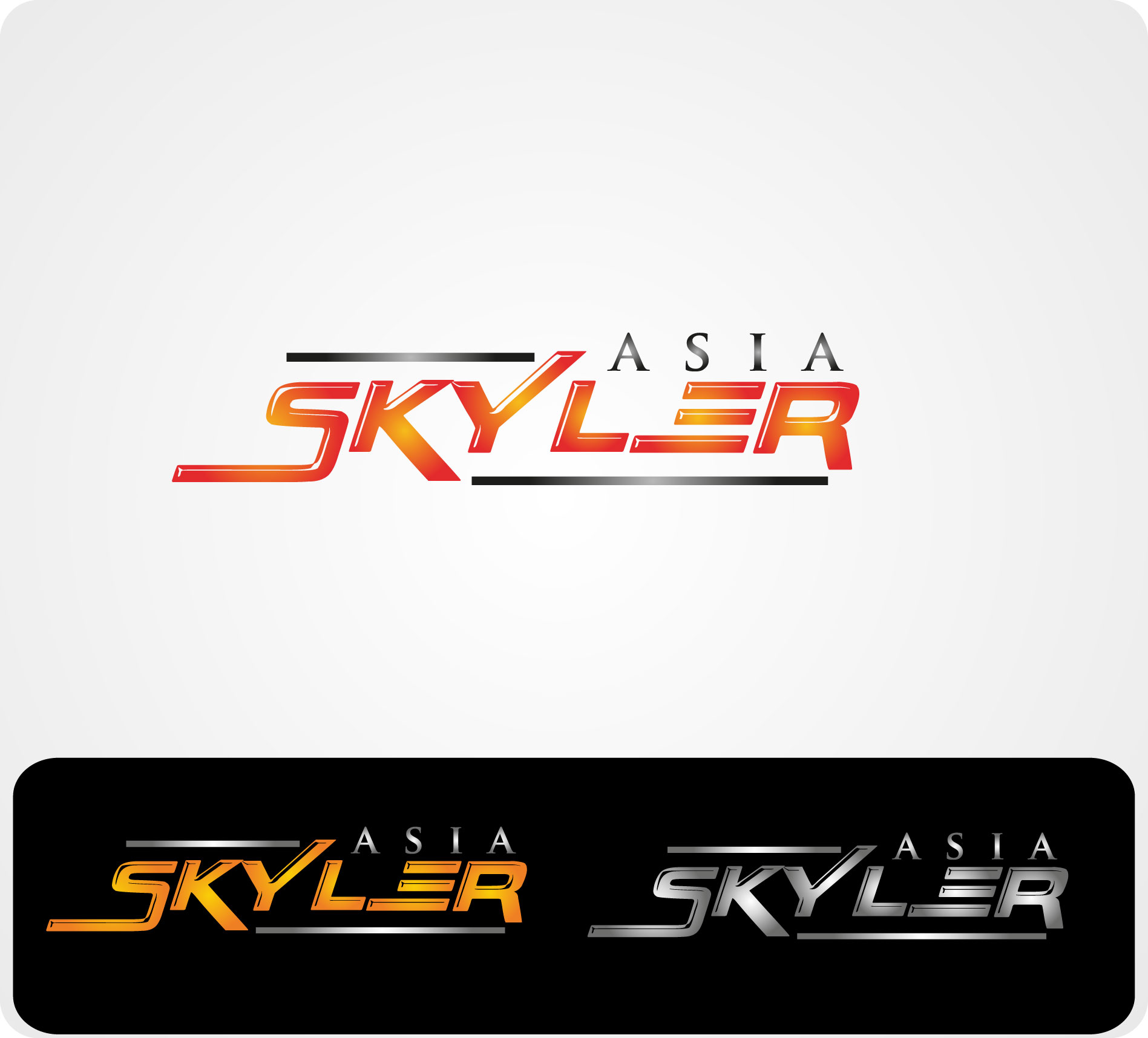 Logo Design by Darina Dimitrova - Entry No. 72 in the Logo Design Contest Artistic Logo Design for Skyler.Asia.