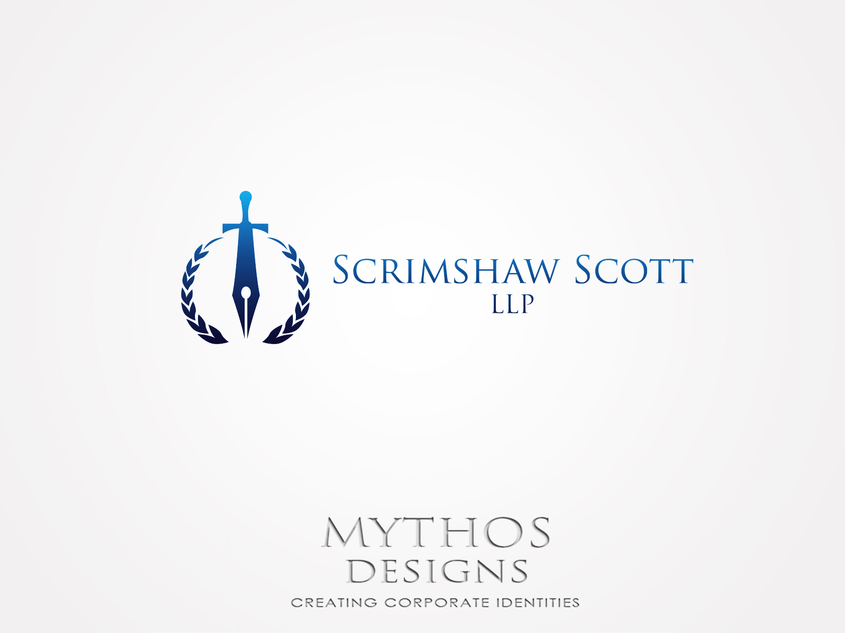 Logo Design by Mythos Designs - Entry No. 1 in the Logo Design Contest Creative Logo Design for Scrimshaw Scott LLP.