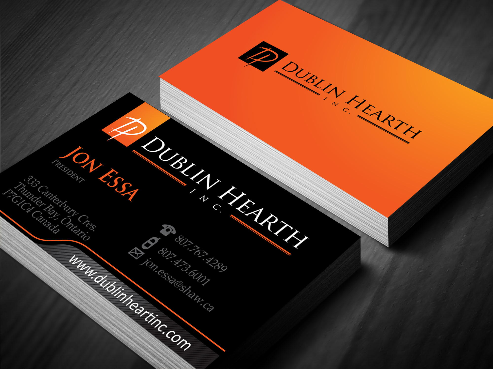 Business Card Design by lagalag - Entry No. 32 in the Business Card Design Contest Business Card and Letterhead  Design Dublin Hearth Inc..