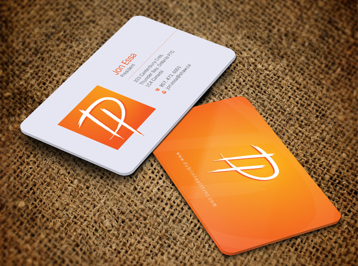 Business Card Design by Totok Budiarto - Entry No. 35 in the Business Card Design Contest Business Card and Letterhead  Design Dublin Hearth Inc..