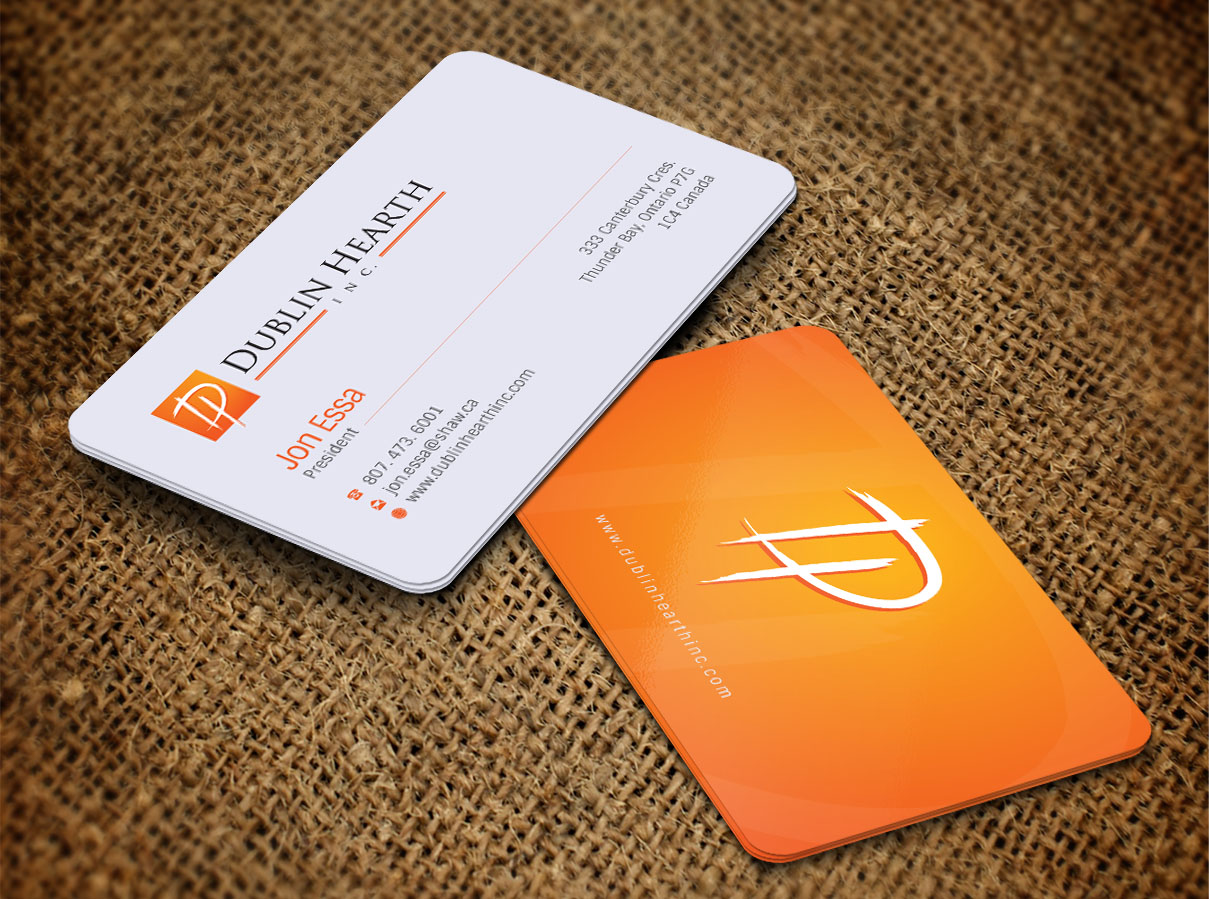 Business Card Design by Totok Budiarto - Entry No. 36 in the Business Card Design Contest Business Card and Letterhead  Design Dublin Hearth Inc..