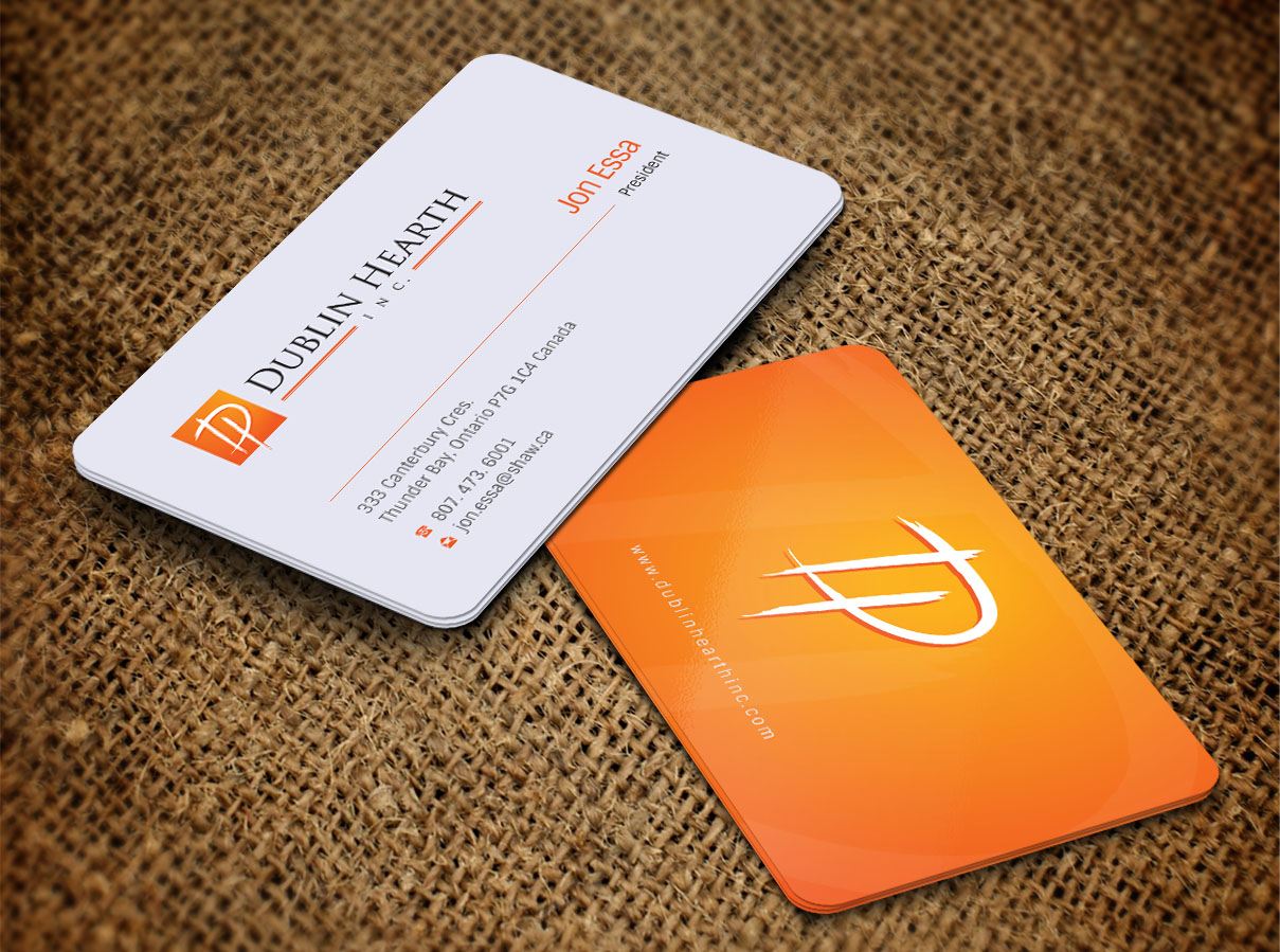 Business Card Design by Totok Budiarto - Entry No. 37 in the Business Card Design Contest Business Card and Letterhead  Design Dublin Hearth Inc..