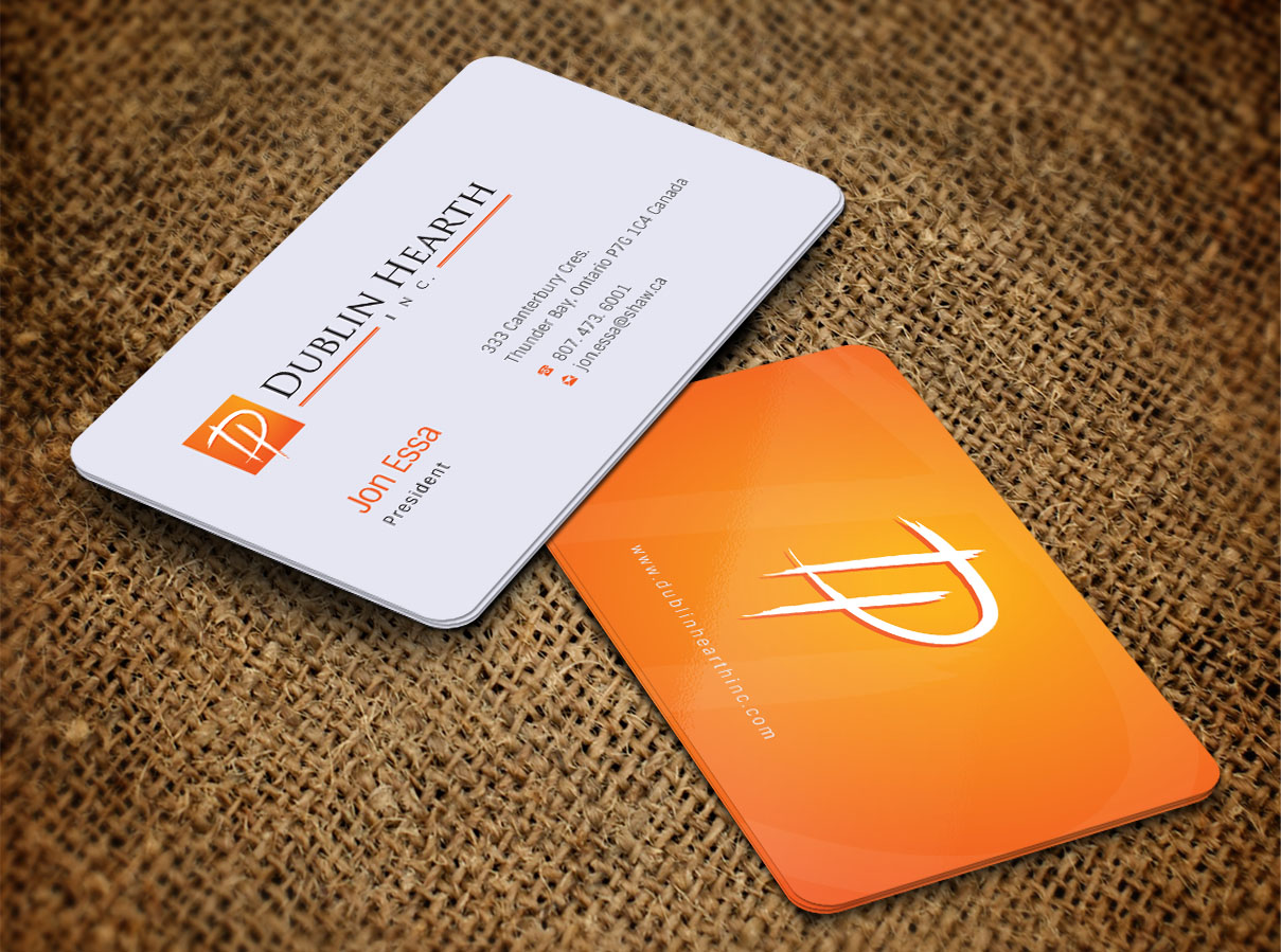 Business Card Design by Totok Budiarto - Entry No. 38 in the Business Card Design Contest Business Card and Letterhead  Design Dublin Hearth Inc..