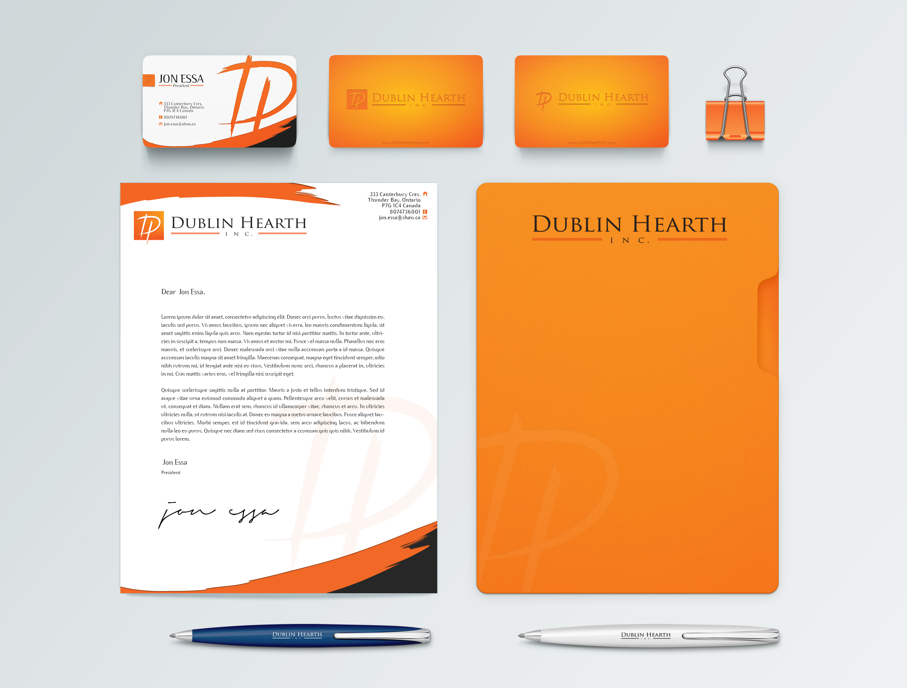 Business Card Design by olii - Entry No. 40 in the Business Card Design Contest Business Card and Letterhead  Design Dublin Hearth Inc..