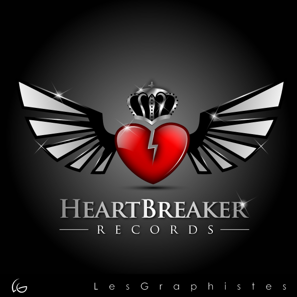 Logo Design by Les-Graphistes - Entry No. 31 in the Logo Design Contest Heartbreaker Records.