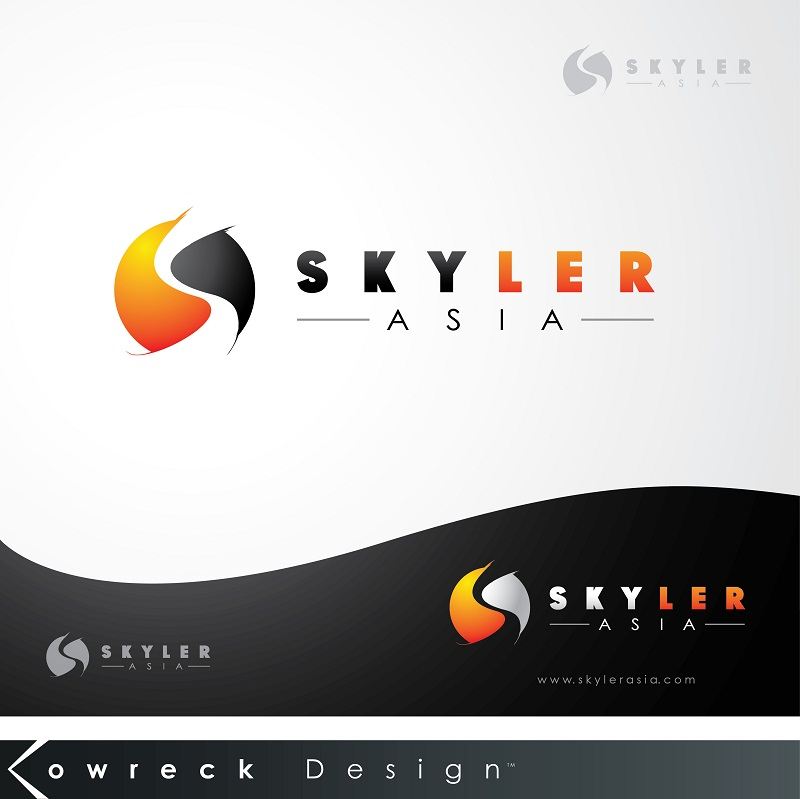 Logo Design by kowreck - Entry No. 179 in the Logo Design Contest Artistic Logo Design for Skyler.Asia.