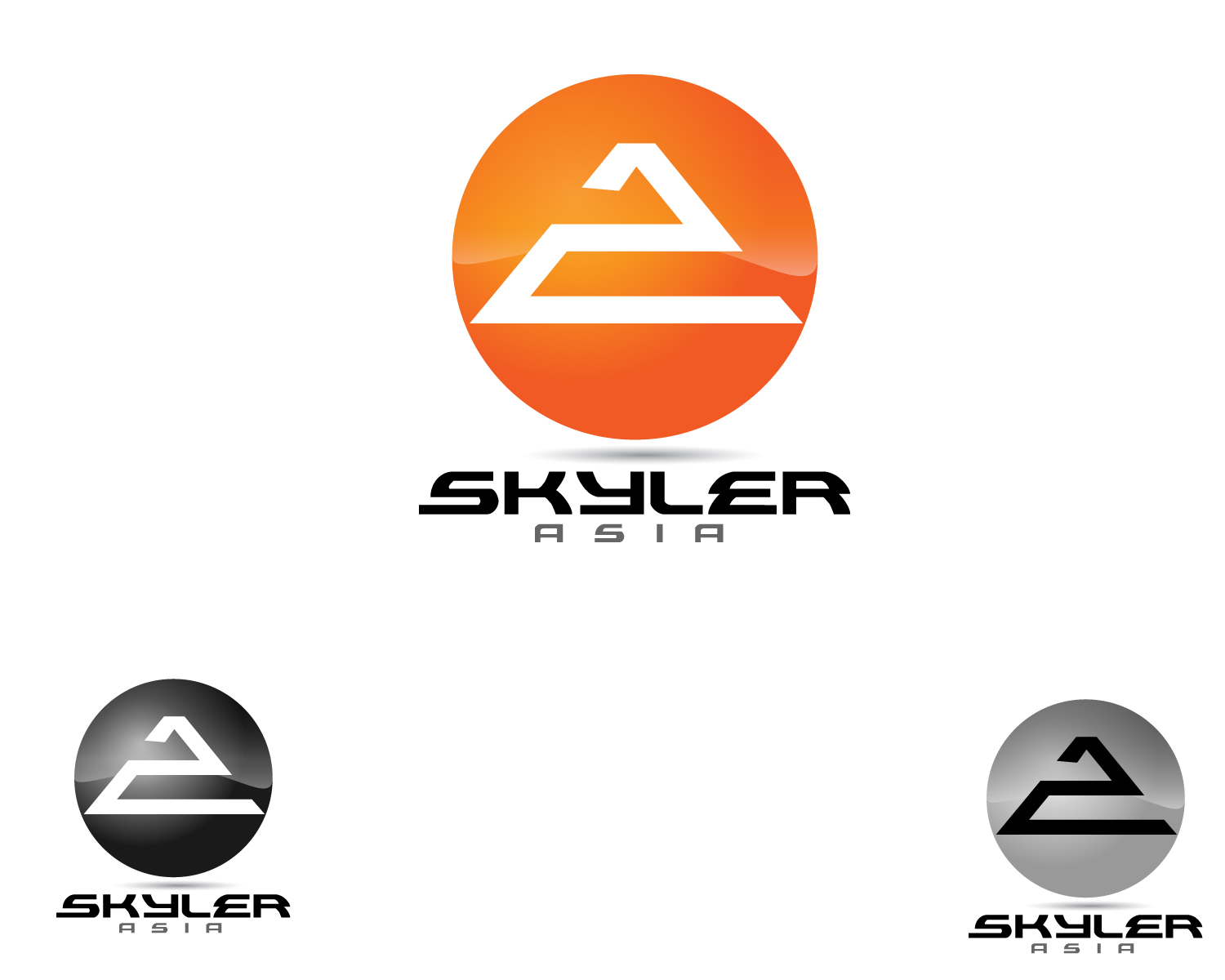 Logo Design by Jagdeep Singh - Entry No. 180 in the Logo Design Contest Artistic Logo Design for Skyler.Asia.