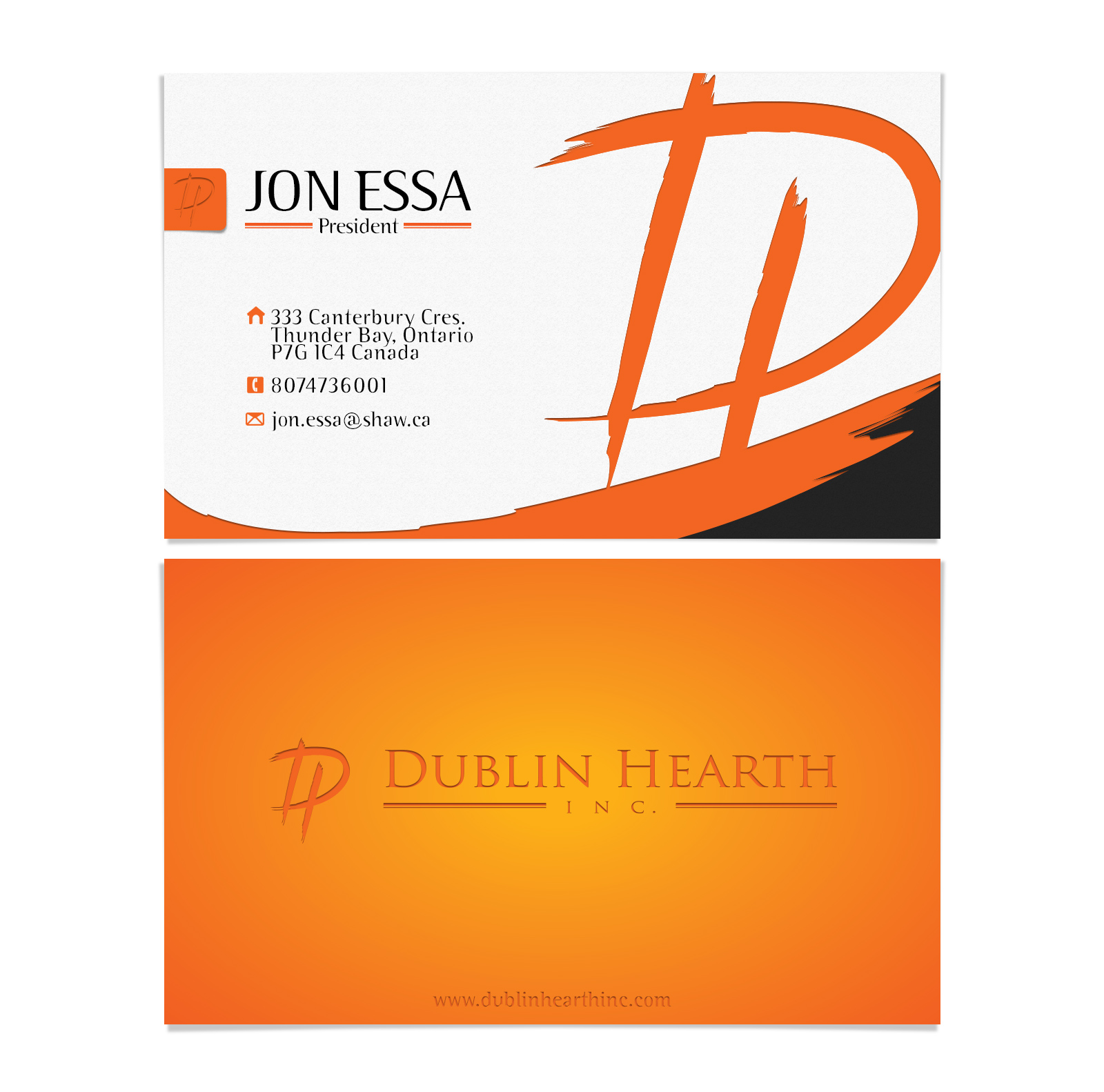 Business Card Design by olii - Entry No. 51 in the Business Card Design Contest Business Card and Letterhead  Design Dublin Hearth Inc..