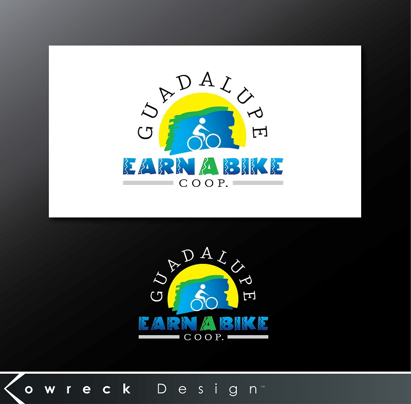 Logo Design by kowreck - Entry No. 5 in the Logo Design Contest Inspiring Logo Design for Guadalupe Earn a Bike Coop..