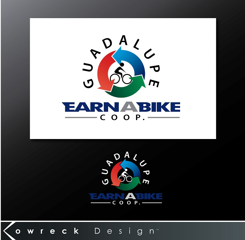 Logo Design by kowreck - Entry No. 6 in the Logo Design Contest Inspiring Logo Design for Guadalupe Earn a Bike Coop..