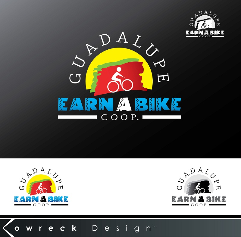 Logo Design by kowreck - Entry No. 7 in the Logo Design Contest Inspiring Logo Design for Guadalupe Earn a Bike Coop..