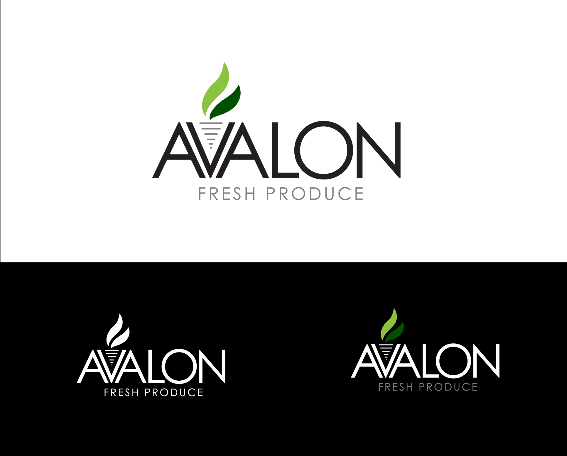 Logo Design by Shameer Okay - Entry No. 59 in the Logo Design Contest Unique Logo Design Wanted for Avalon Fresh Produce.