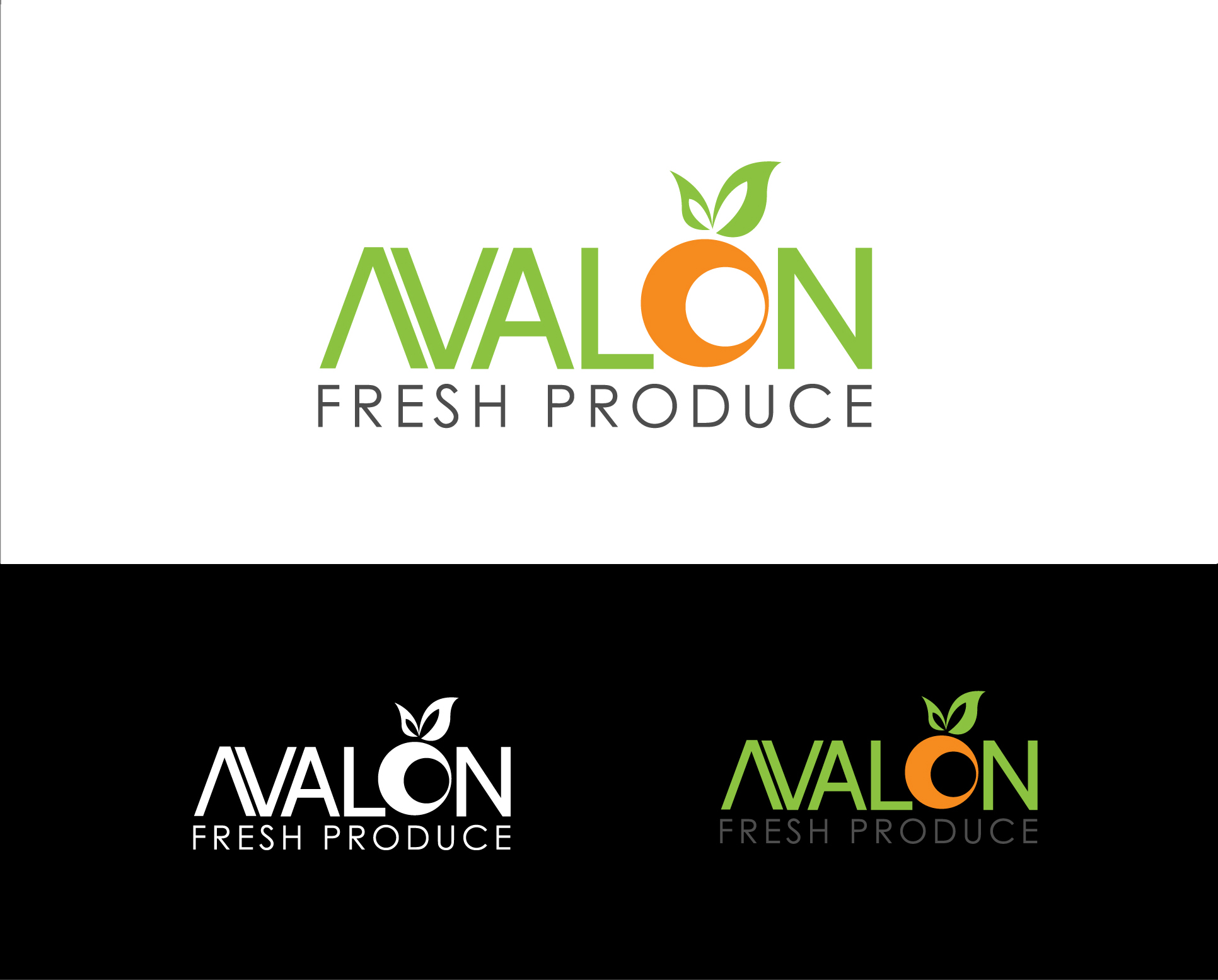 Logo Design by Shameer Okay - Entry No. 60 in the Logo Design Contest Unique Logo Design Wanted for Avalon Fresh Produce.
