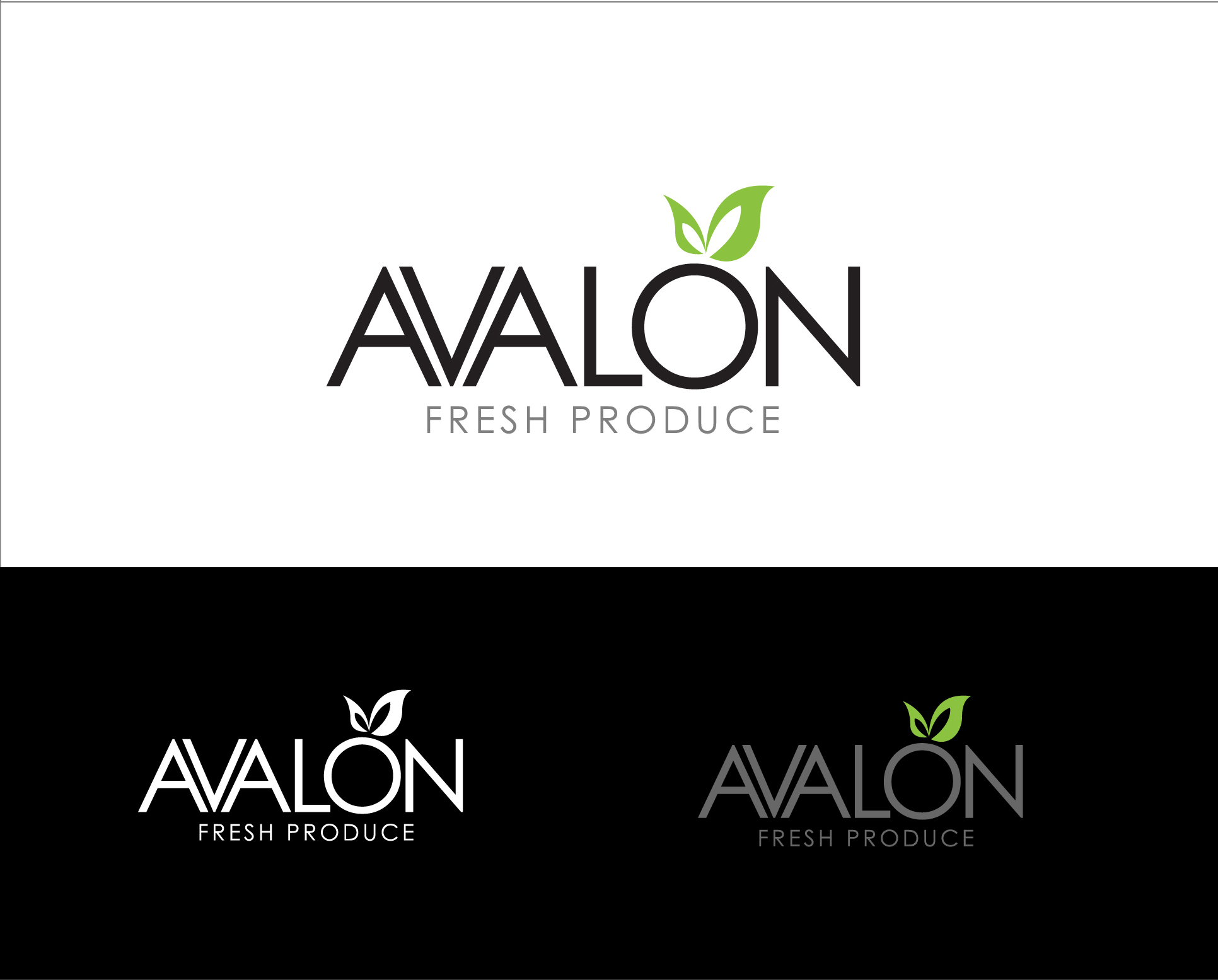 Logo Design by Shameer Okay - Entry No. 61 in the Logo Design Contest Unique Logo Design Wanted for Avalon Fresh Produce.