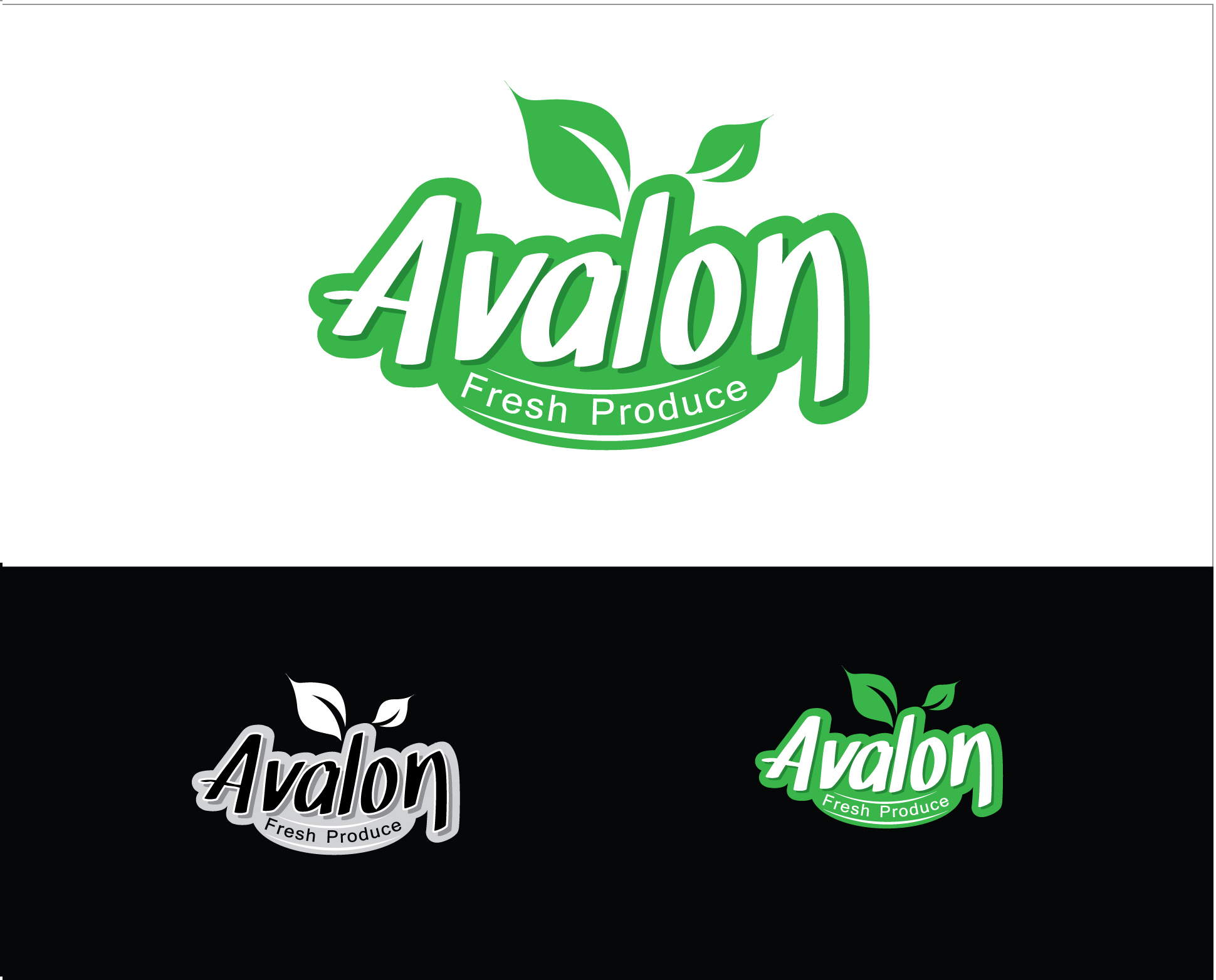 Logo Design by Shameer Okay - Entry No. 65 in the Logo Design Contest Unique Logo Design Wanted for Avalon Fresh Produce.