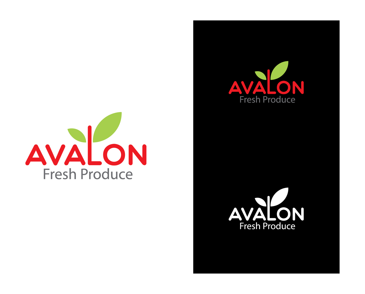 Logo Design by Shameer Okay - Entry No. 66 in the Logo Design Contest Unique Logo Design Wanted for Avalon Fresh Produce.