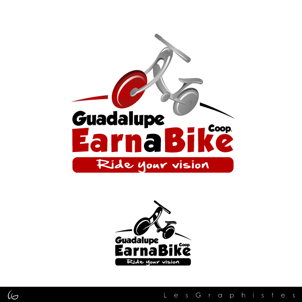 Logo Design by Les-Graphistes - Entry No. 9 in the Logo Design Contest Inspiring Logo Design for Guadalupe Earn a Bike Coop..