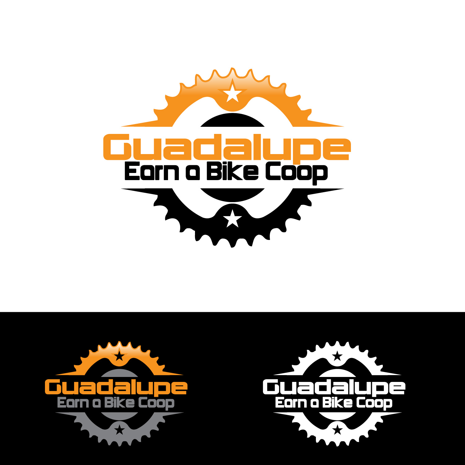 Logo Design by lagalag - Entry No. 13 in the Logo Design Contest Inspiring Logo Design for Guadalupe Earn a Bike Coop..