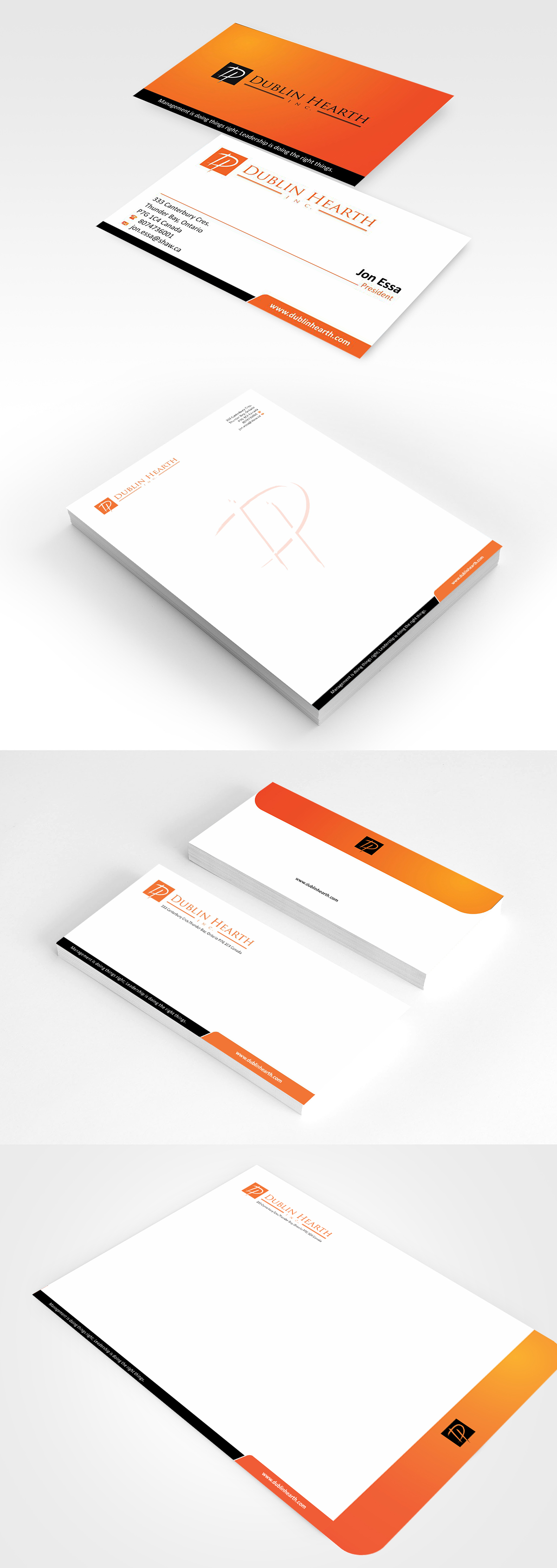 Business Card Design by Muhammad Aslam - Entry No. 62 in the Business Card Design Contest Business Card and Letterhead  Design Dublin Hearth Inc..