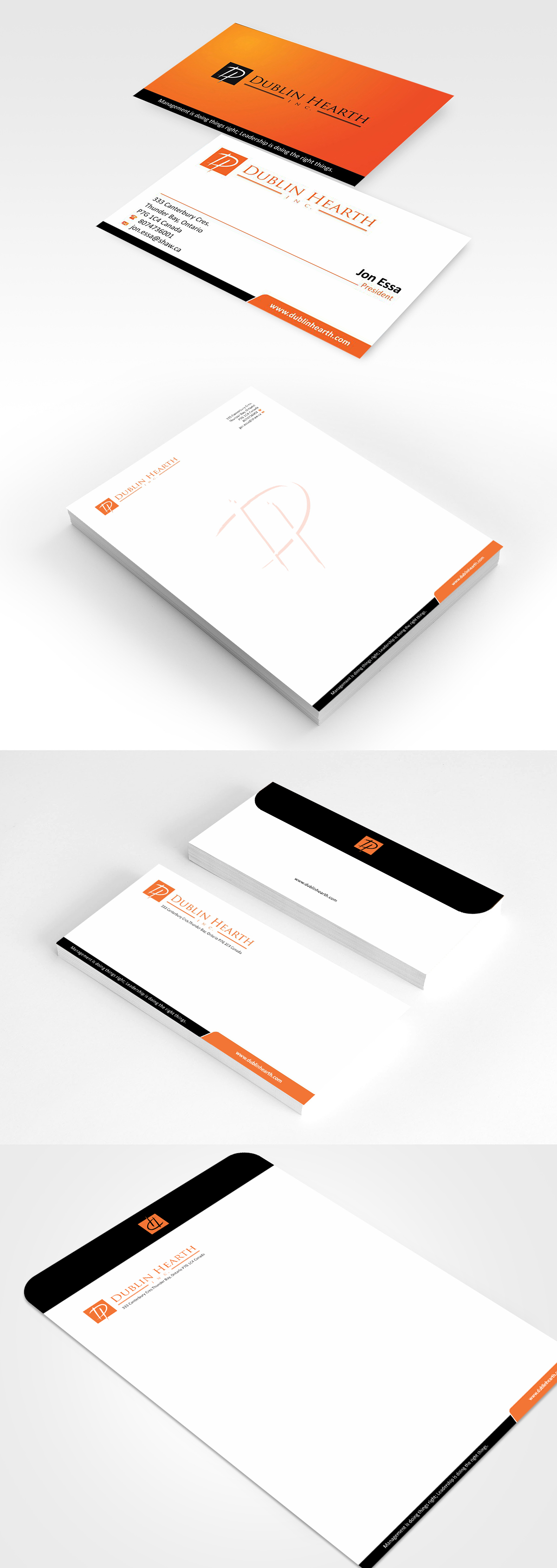 Business Card Design by Muhammad Aslam - Entry No. 64 in the Business Card Design Contest Business Card and Letterhead  Design Dublin Hearth Inc..