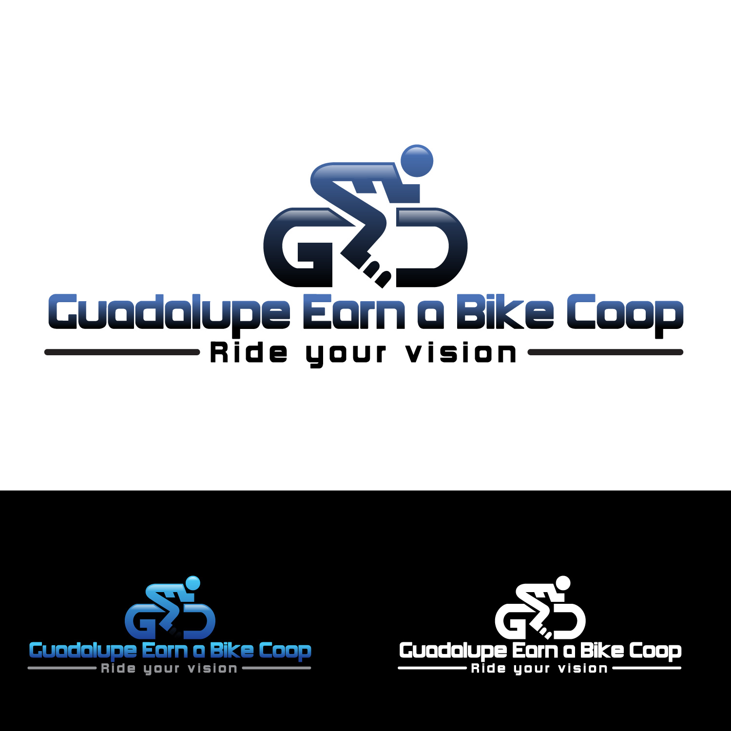 Logo Design by lagalag - Entry No. 14 in the Logo Design Contest Inspiring Logo Design for Guadalupe Earn a Bike Coop..