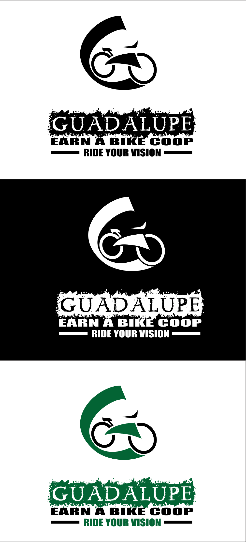 Logo Design by Claudia Tutuman - Entry No. 16 in the Logo Design Contest Inspiring Logo Design for Guadalupe Earn a Bike Coop..