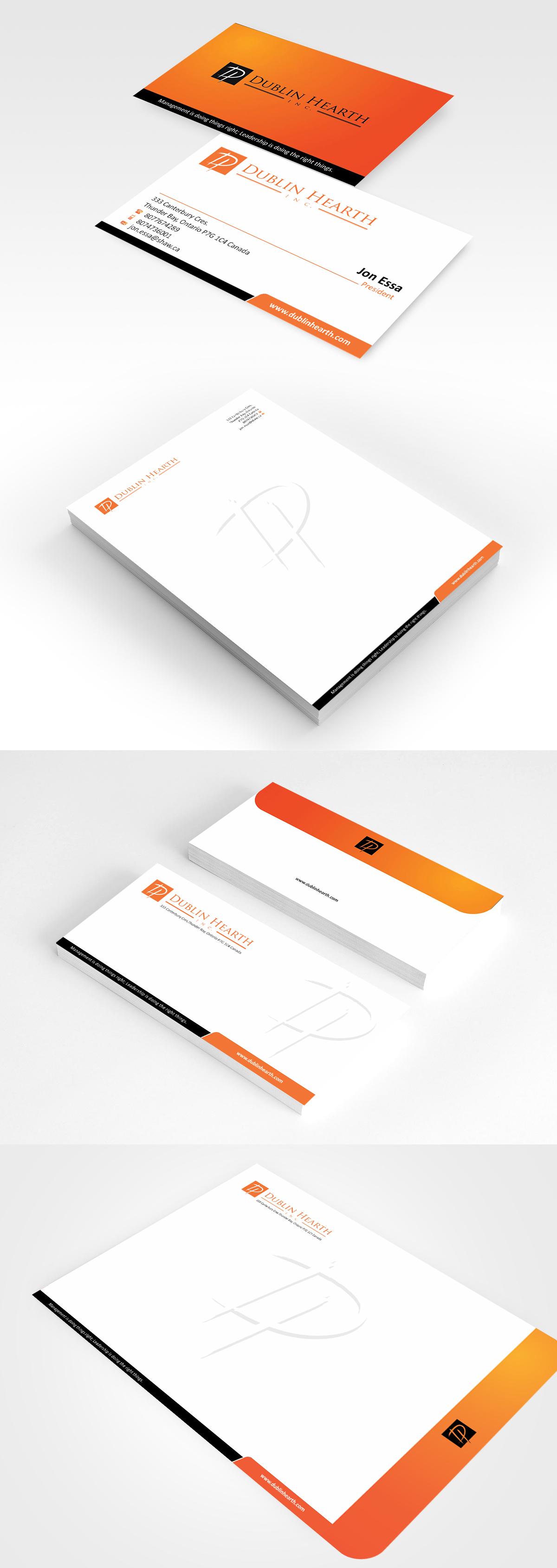 Business Card Design by Muhammad Aslam - Entry No. 67 in the Business Card Design Contest Business Card and Letterhead  Design Dublin Hearth Inc..