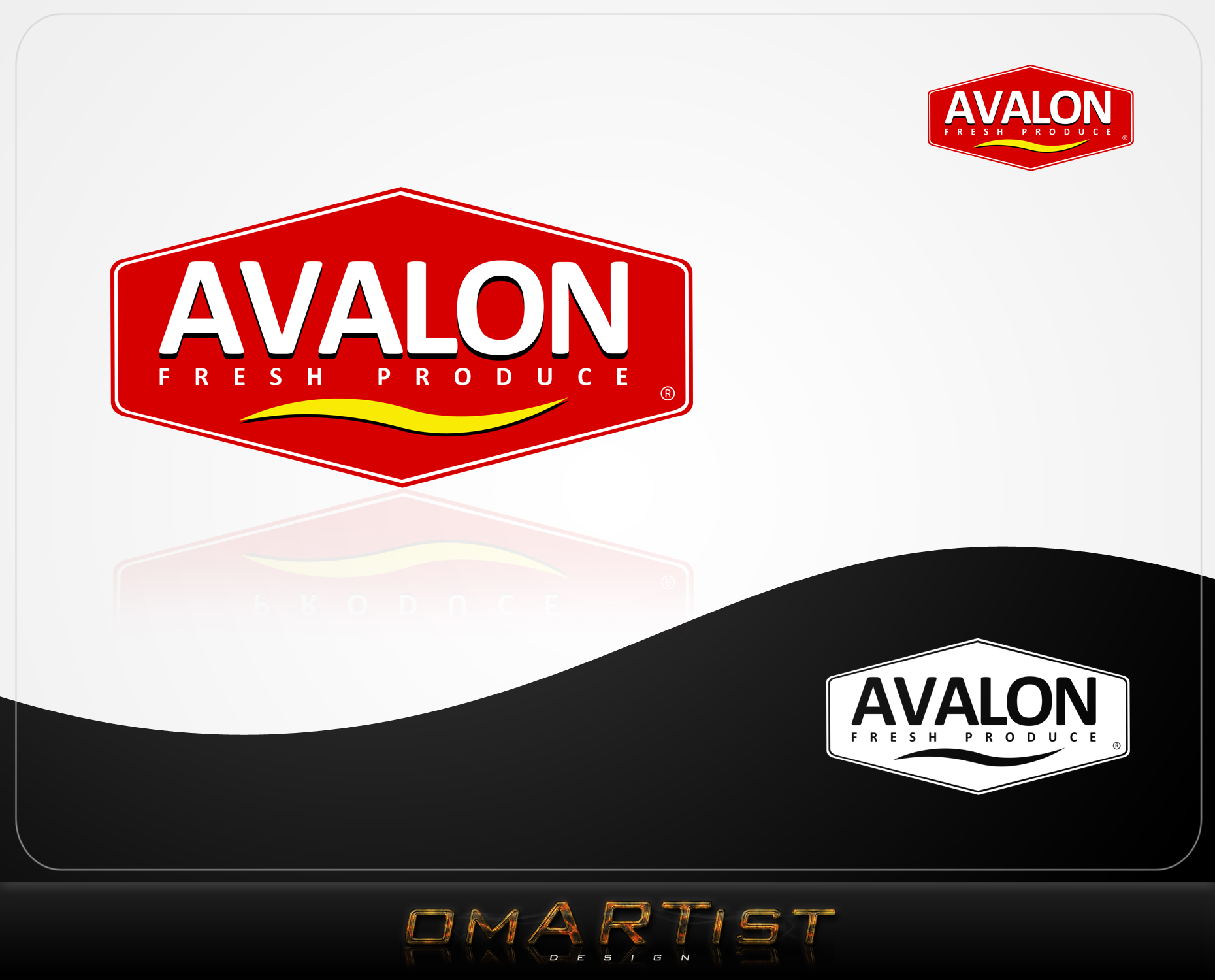 Logo Design by omARTist - Entry No. 74 in the Logo Design Contest Unique Logo Design Wanted for Avalon Fresh Produce.