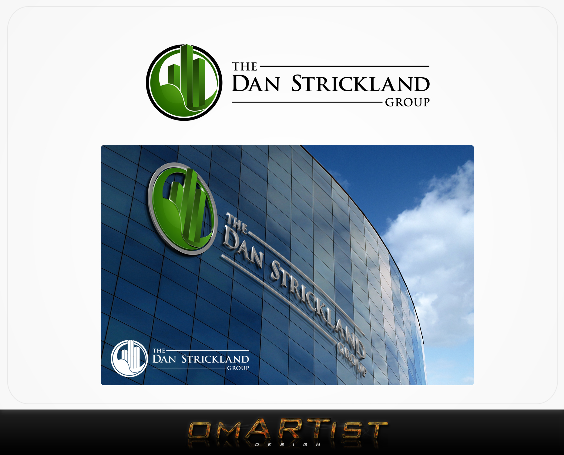 Logo Design by omARTist - Entry No. 177 in the Logo Design Contest Creative Logo Design for The Dan Strickland Group.