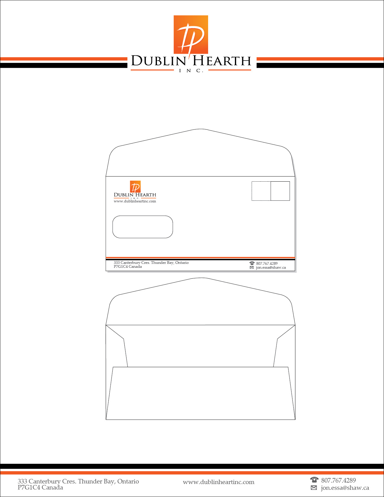 Business Card Design by lagalag - Entry No. 70 in the Business Card Design Contest Business Card and Letterhead  Design Dublin Hearth Inc..