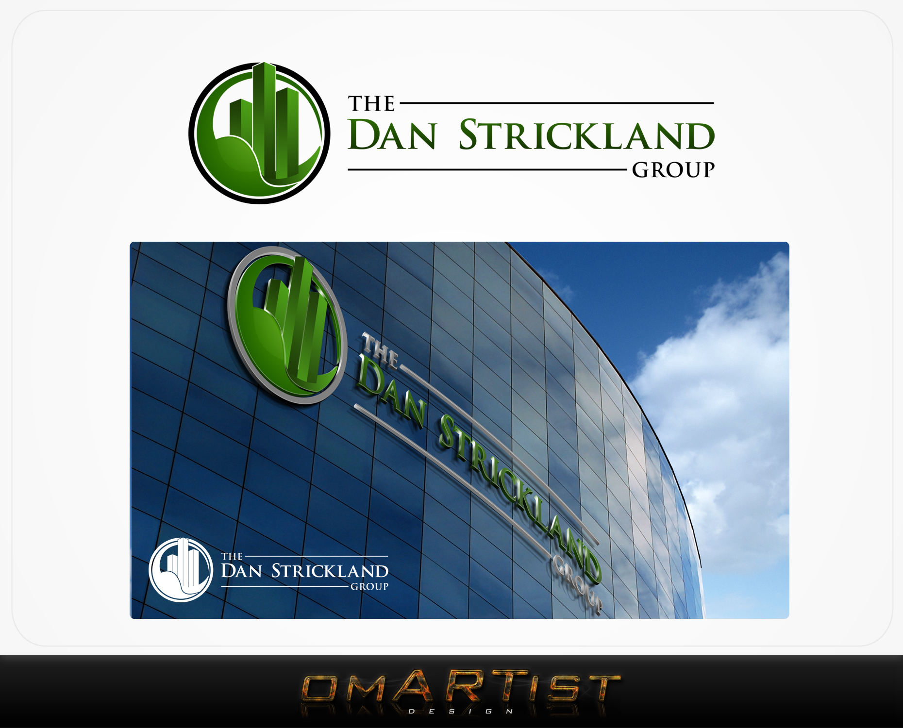 Logo Design by omARTist - Entry No. 178 in the Logo Design Contest Creative Logo Design for The Dan Strickland Group.