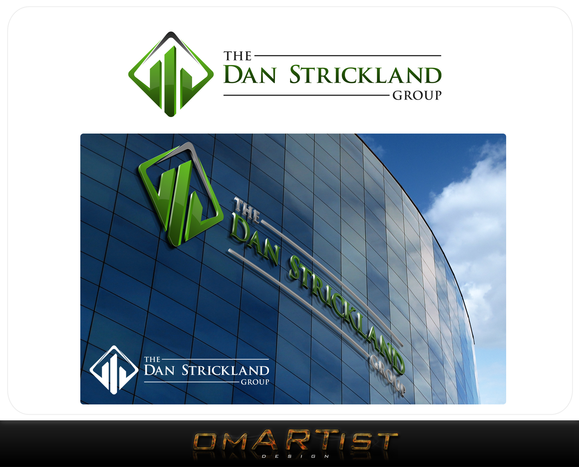 Logo Design by omARTist - Entry No. 224 in the Logo Design Contest Creative Logo Design for The Dan Strickland Group.
