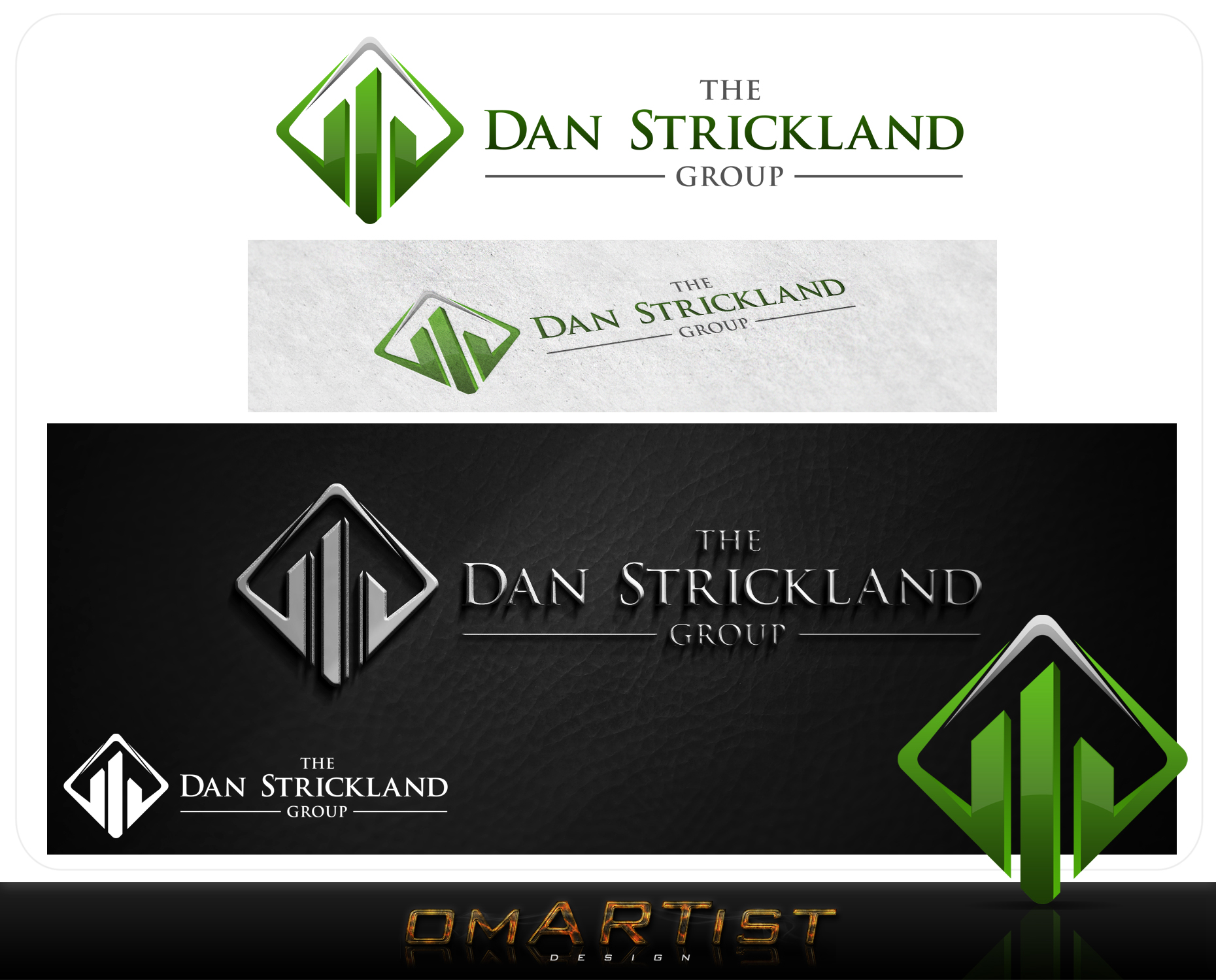Logo Design by omARTist - Entry No. 226 in the Logo Design Contest Creative Logo Design for The Dan Strickland Group.